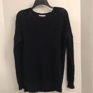 Forever 21 navy blue chunky knit crochet sweater